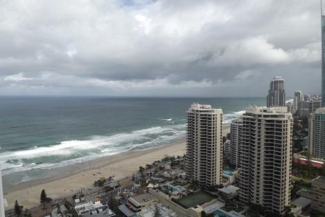 Así se ve Surfers Paradise desde lo alto!!!